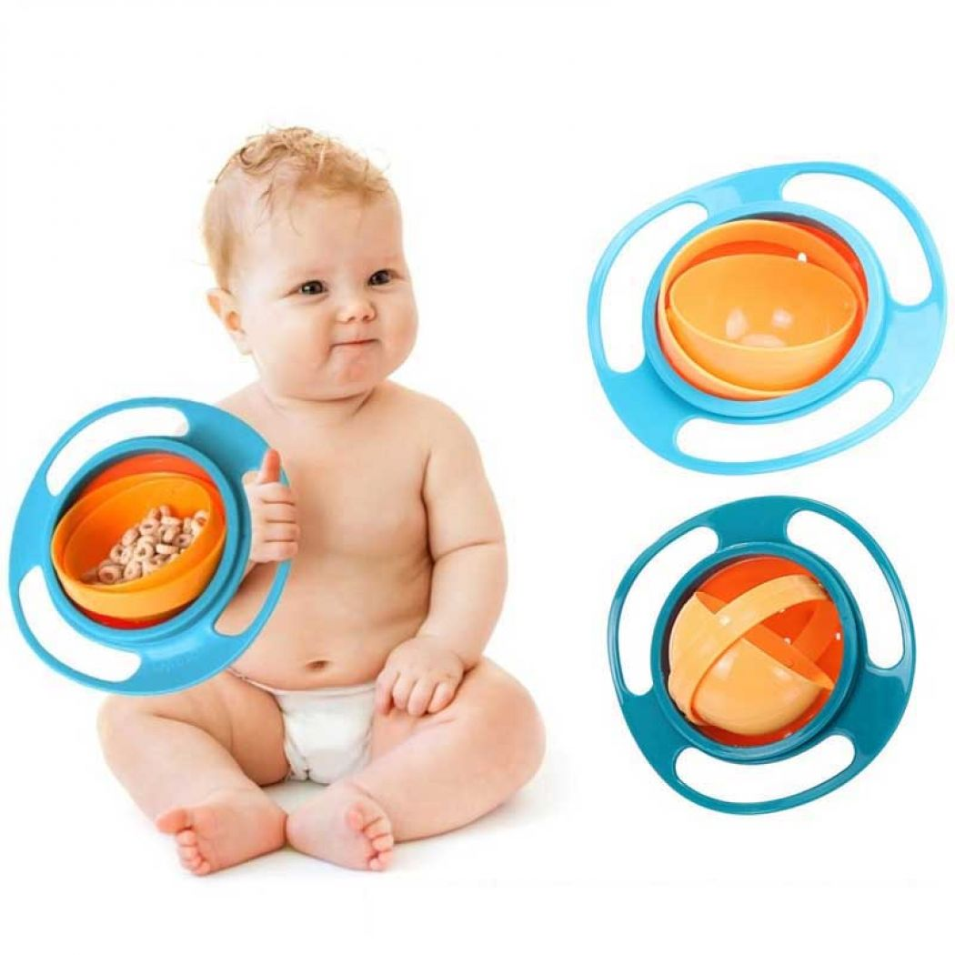 Baby Kid Food Spilling Gyro Bowl