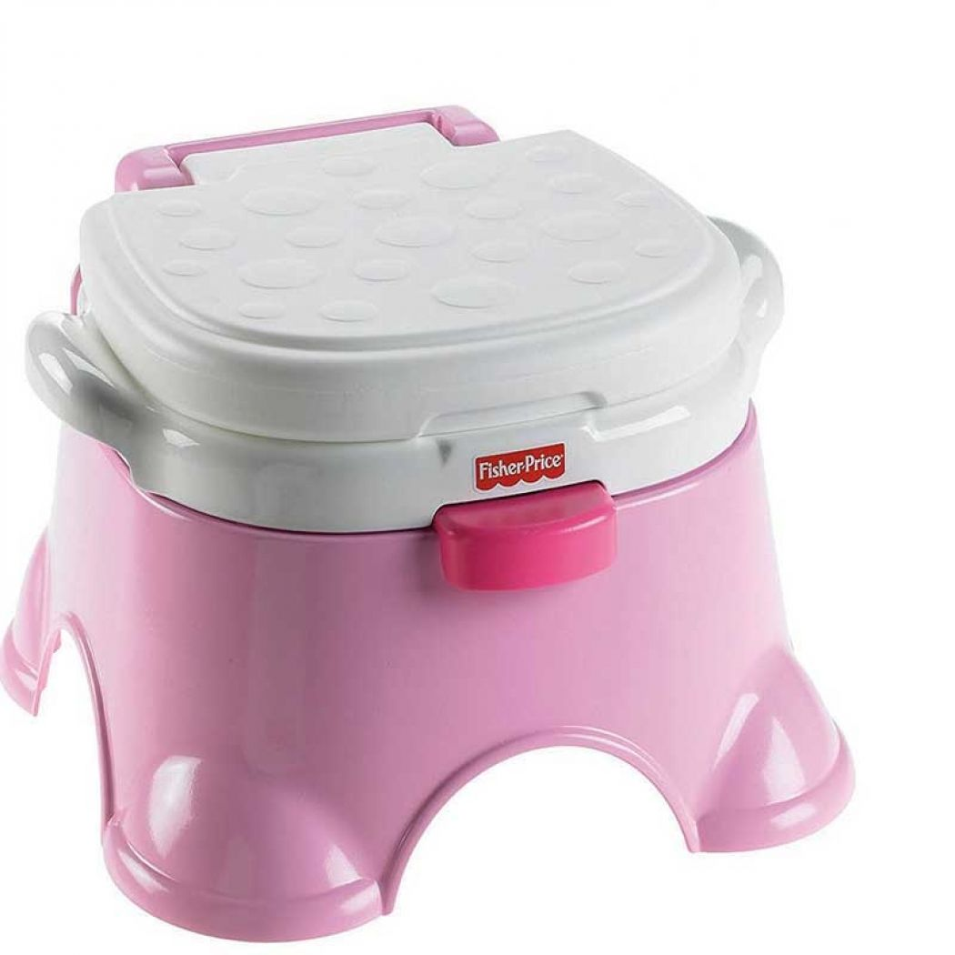 Fisher Price Pink Princess Stepstool Potty Chair