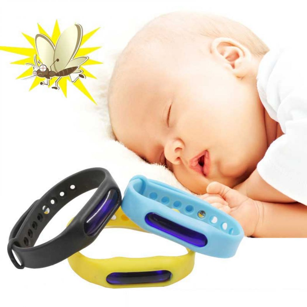 Pack Of 2 Adjustable Silicone Anti Mosquito Band