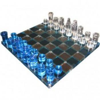Exclusive Glass Chess Set Unique Affordable