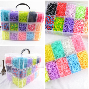 Rubber loom bands kit Colorful