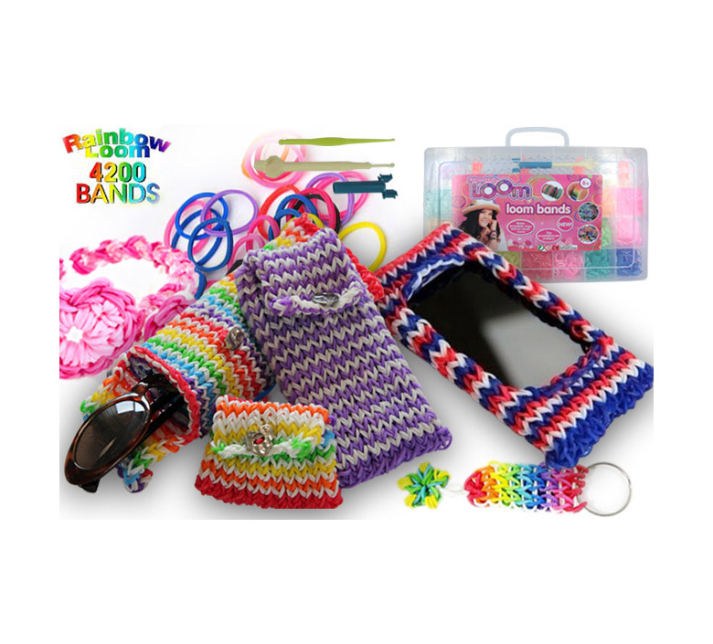 DIY Rubber Loom bands Kit 4200 Piece