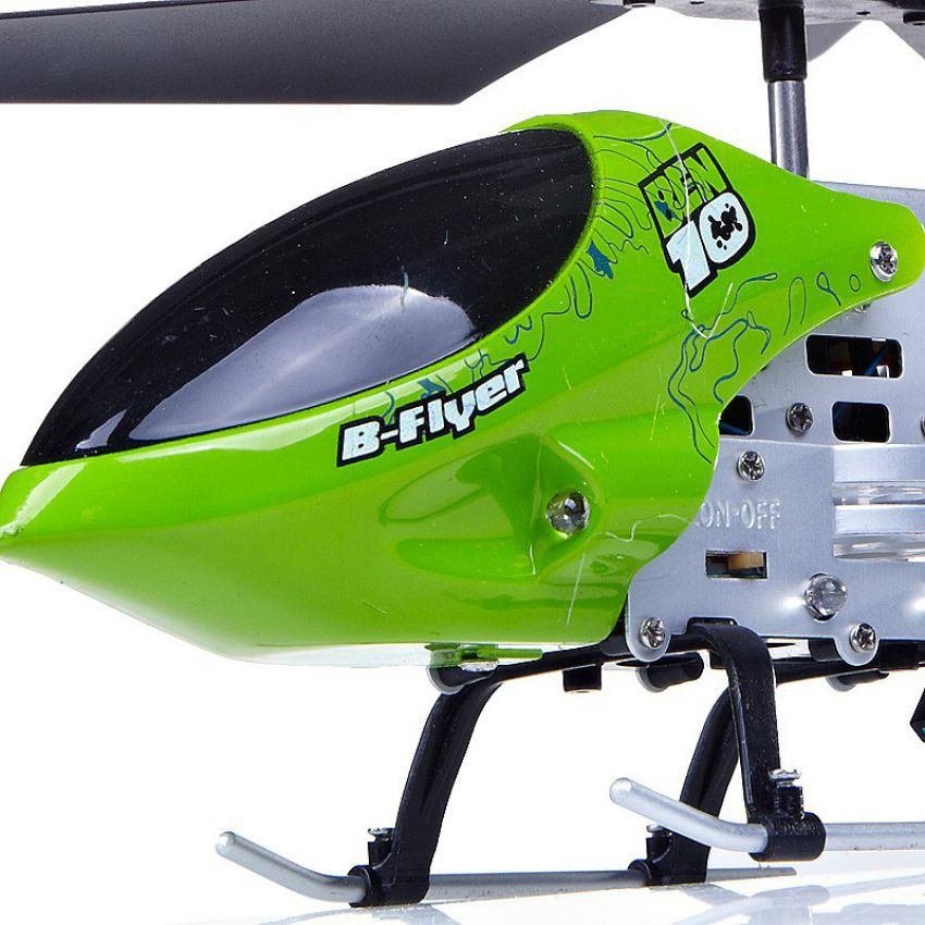 Metal 3ch Rc Helicopter Ben 10 Htx 085 25cm With Remote Control In