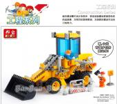 Banbao Engineer Pull Back Loaders 8521 Building Bl