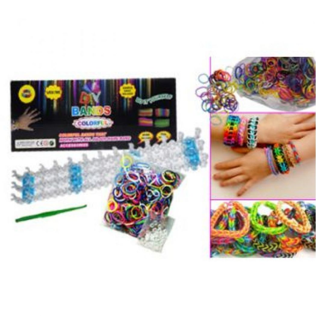 Colourful DIY Loom Bands kit with 600 Loom Bands