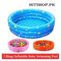 3 Ring Inflatable Soft Swimming Bathtub For Kids
