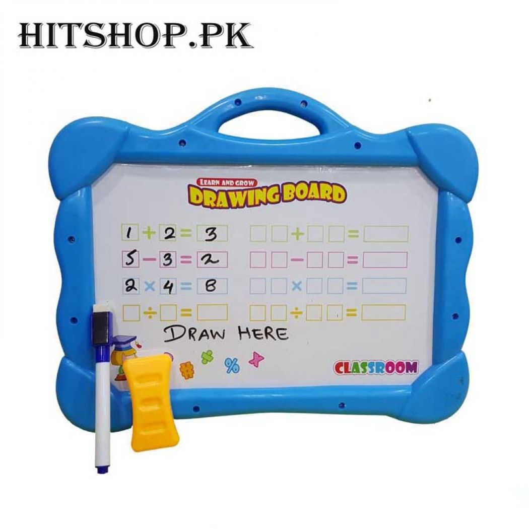 Blue Magical Drawing Board With Magnetic Figures Plus Draw And Erase