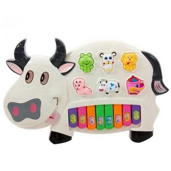 Battery Operated Cow Pianism Toy