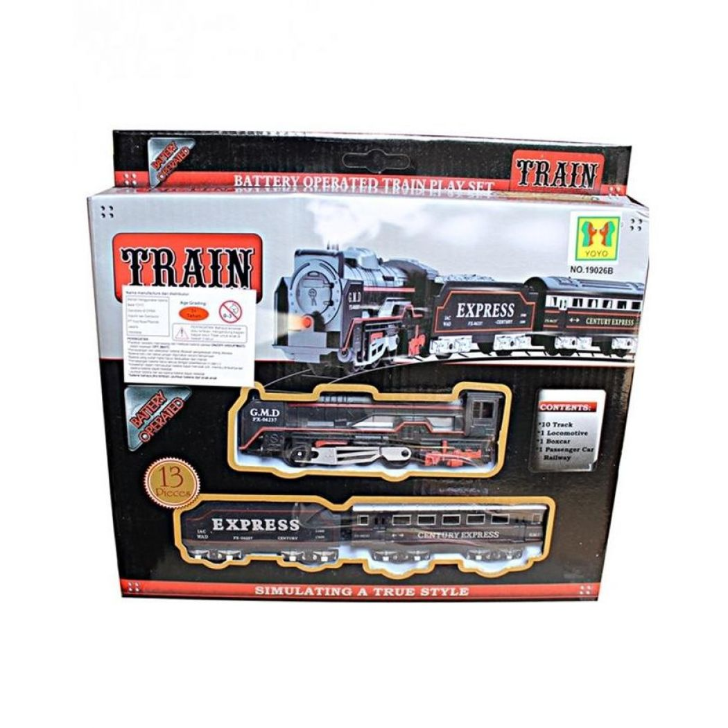 Toy Galaxy Battery Operated Train Toy - Black
