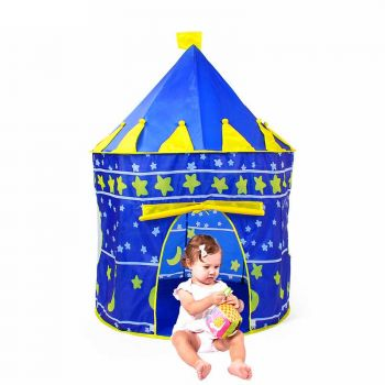 Portable Blue Pink Castle Folding Tent For Kids