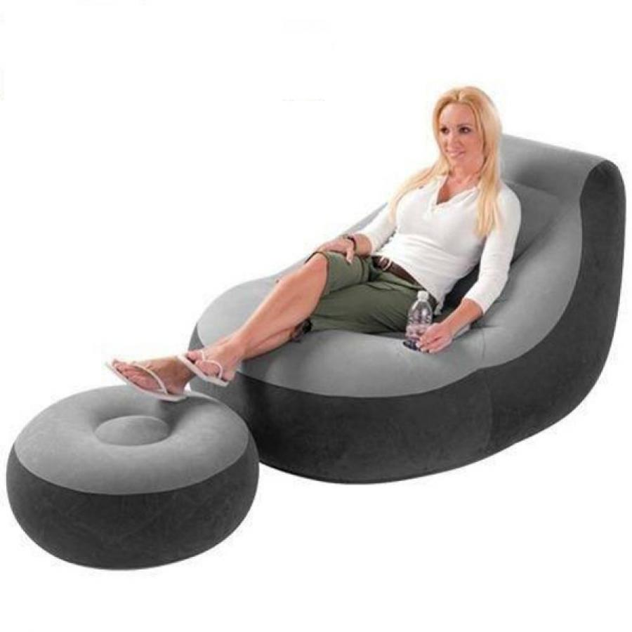 Inflatable Sofa With Footrest Set Intex 68564inflatable Sofa With Footrest Set Intex 68564 In