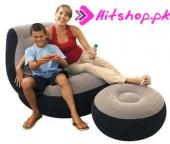 Inflatable Sofa With Footrest Set Intex