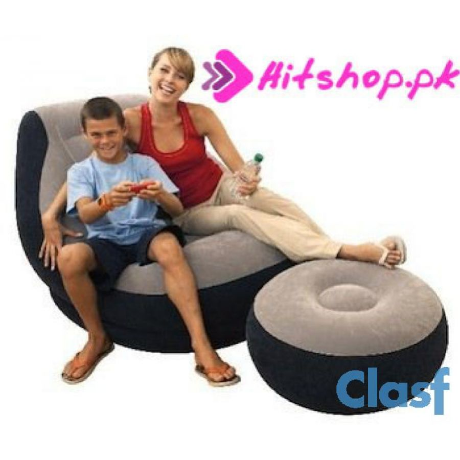Inflatable Sofa With Footrest Set Intex 68564