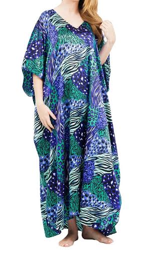 Taheras Caftans Dress Blue CAF-03