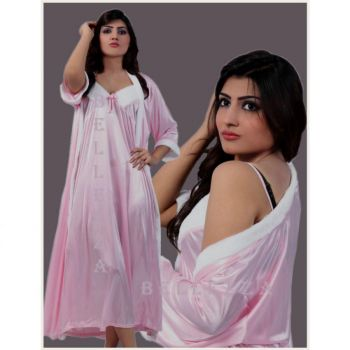 Bellezza Sensual Nightwear Nighty With Velvet Fur