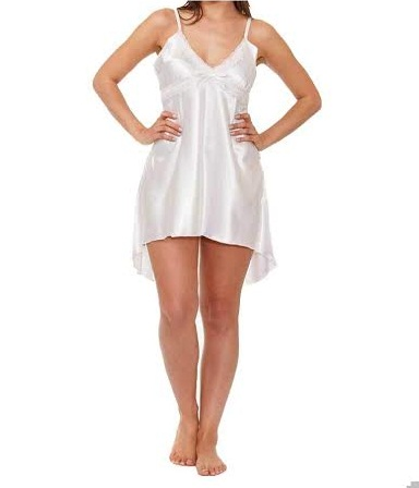 Taheras white Chemise With Lase CHE 03 RB
