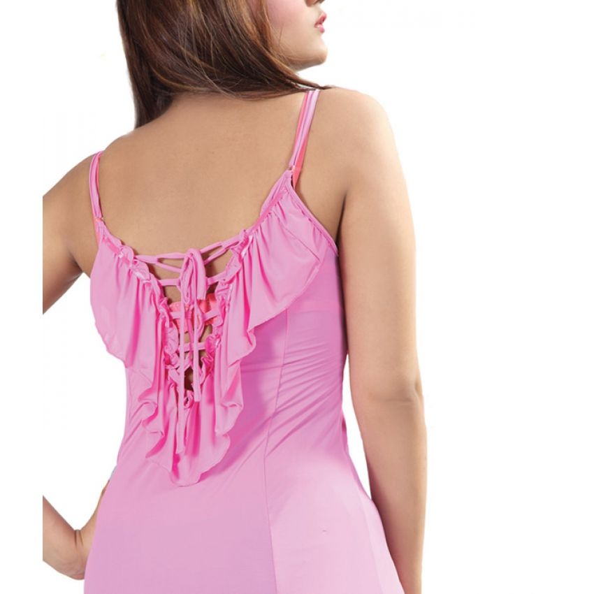 Front Open Sleeveless Nighty