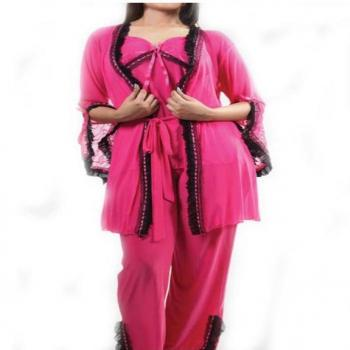 Stylish Pajama Set With Gown