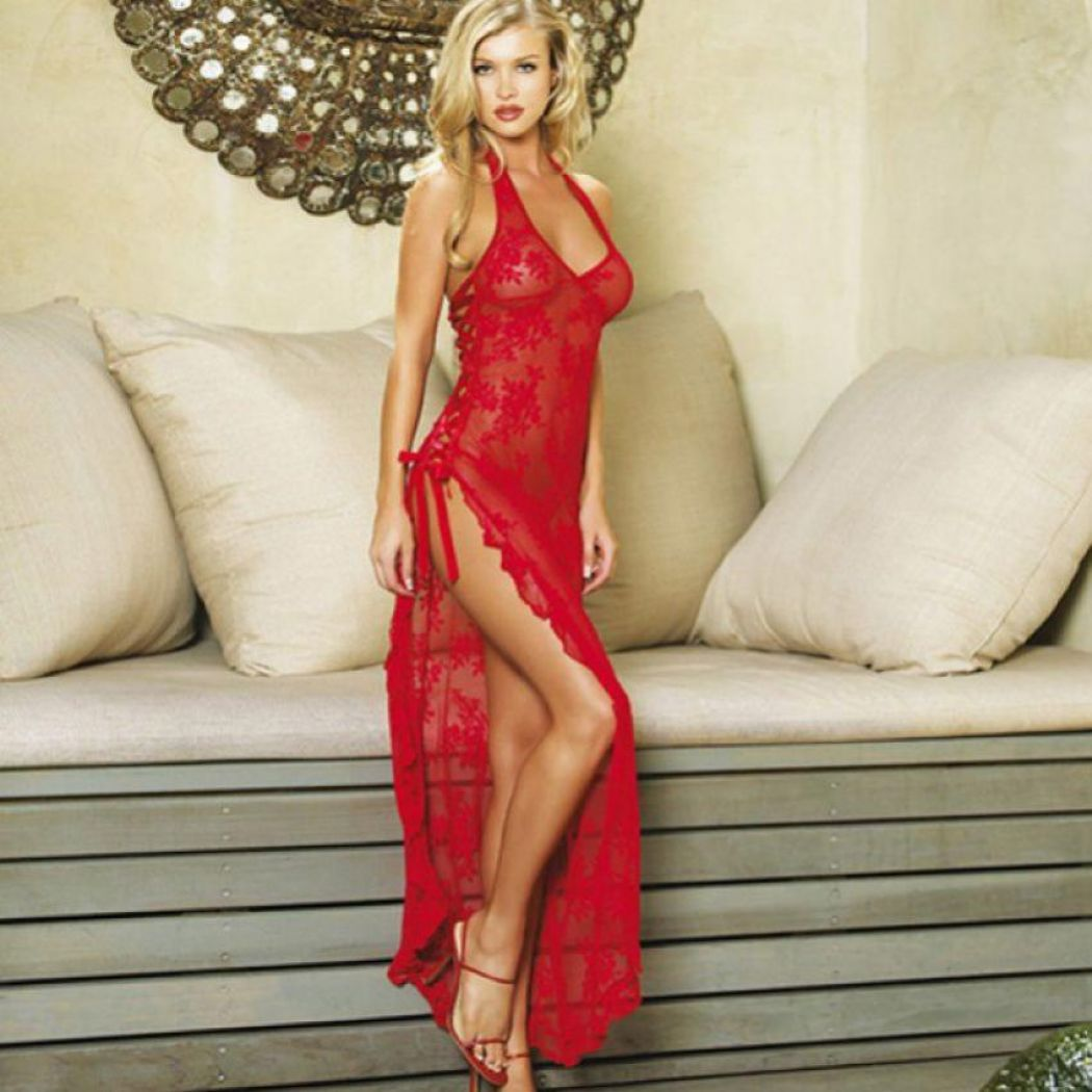 ROSE LACE LONG NIGHTY