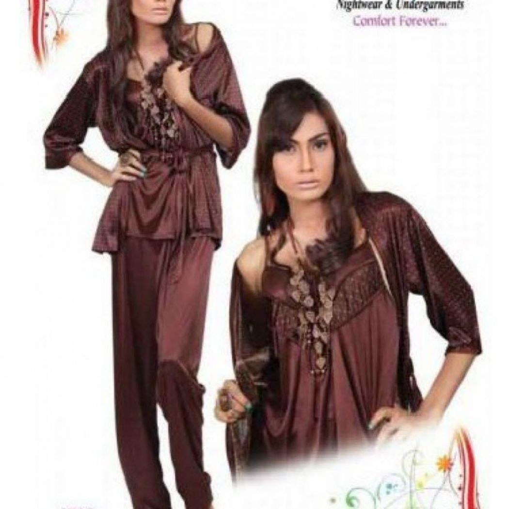 Stylish Brown Nigh-ware Nighty