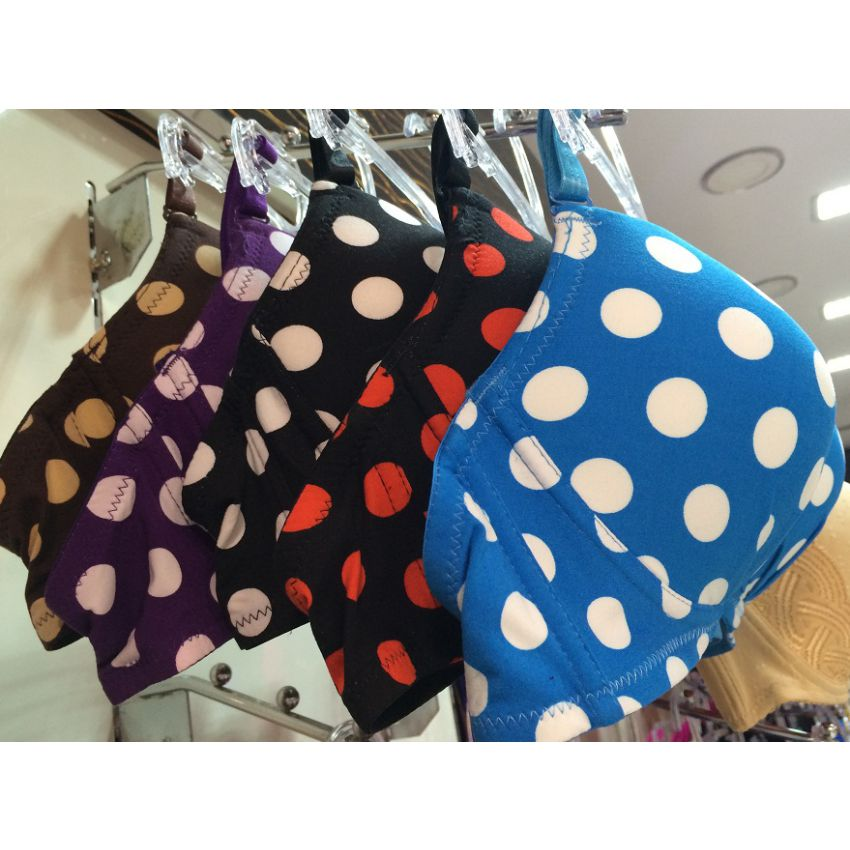 Set of 3 Pushup Double padded Polka Spot Bra