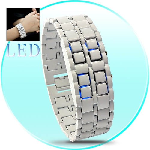 Blue LED Faceless Watch