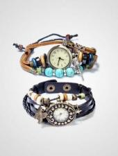 Bundle Of 2 Womens Leather Strap Vintage Watches