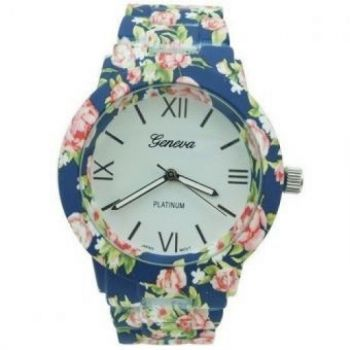 BLUE FLORAL WATCH GENEVA