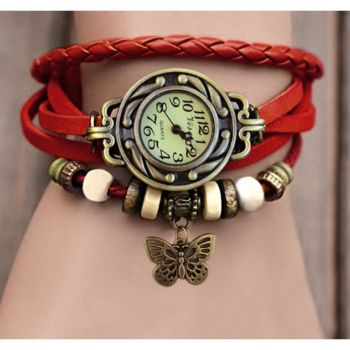 BUTTERFLY WOMEN LEATHER WATCH