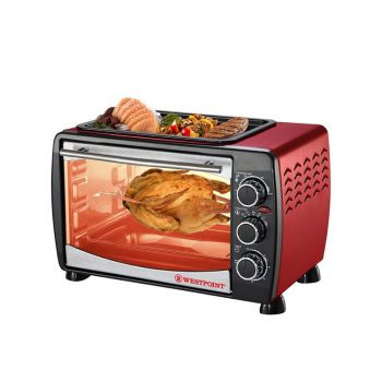 Westpoint Toaster Oven with Hot Plate WF-2400RD - 24 Litre