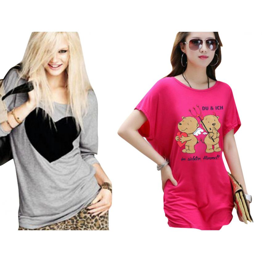 Deal 2 Pack T Shirts For Womens