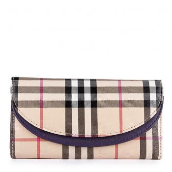 Burberry Haymarket Check Wallet Black