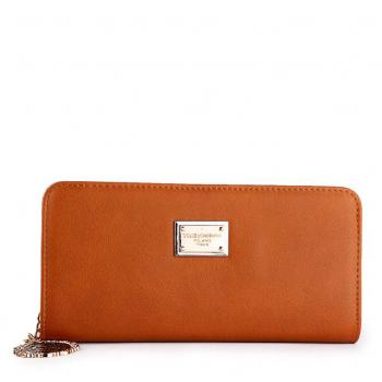 Dolce Gabbana Zip Around Wallet Brown