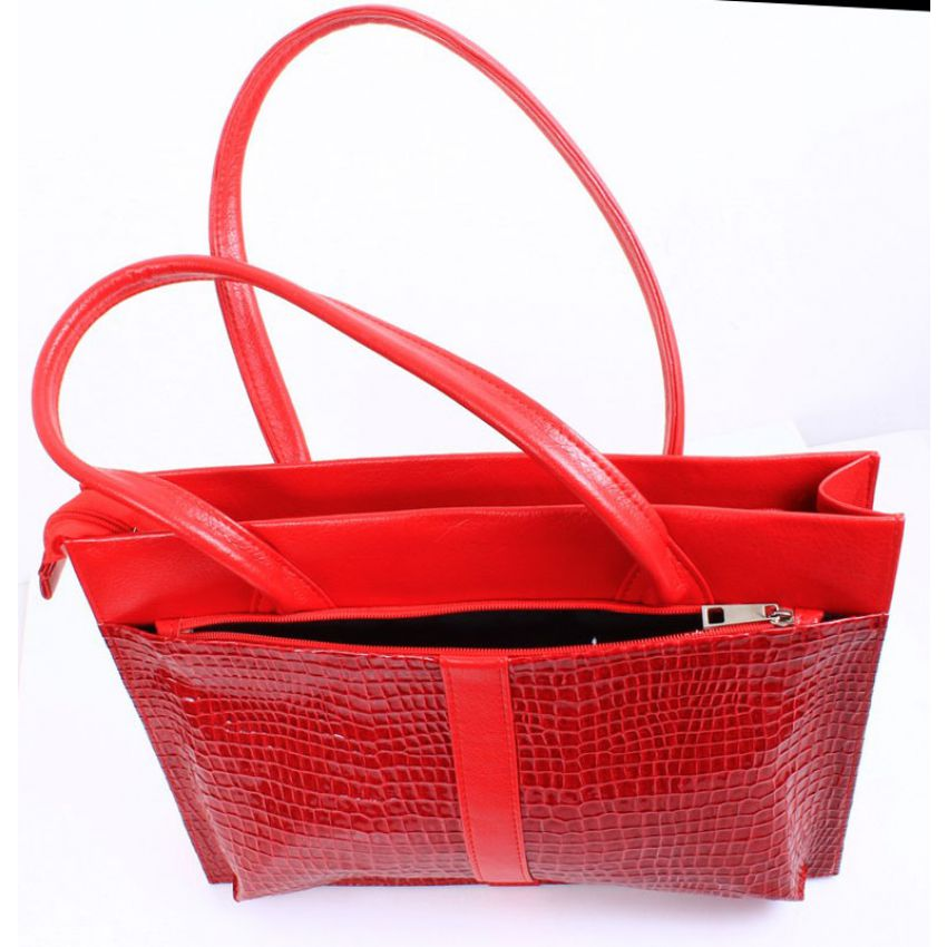 Ladies Red Leather Handbag