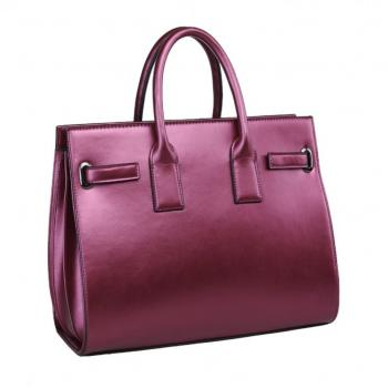 Shiny Purple Ladies Hand Bag
