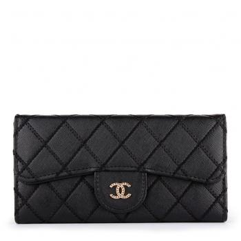 Chanel Quilted Reissue Wallet Black