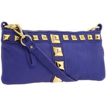 Biue Clutch With Light Golden Bullit