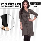 Combo of 2 Button Style Top N Cigarette Pants
