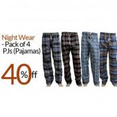 PACK OF 4 CHECKERED PAJAMAS FOR GIRLS