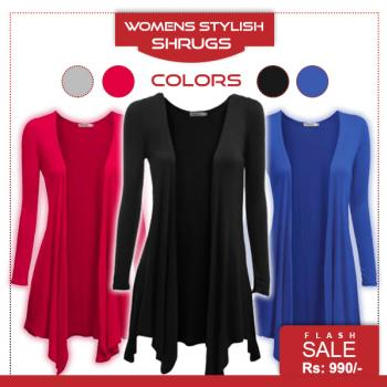 Deal 3 Womens Stylish Shrugs Exclusive Colors