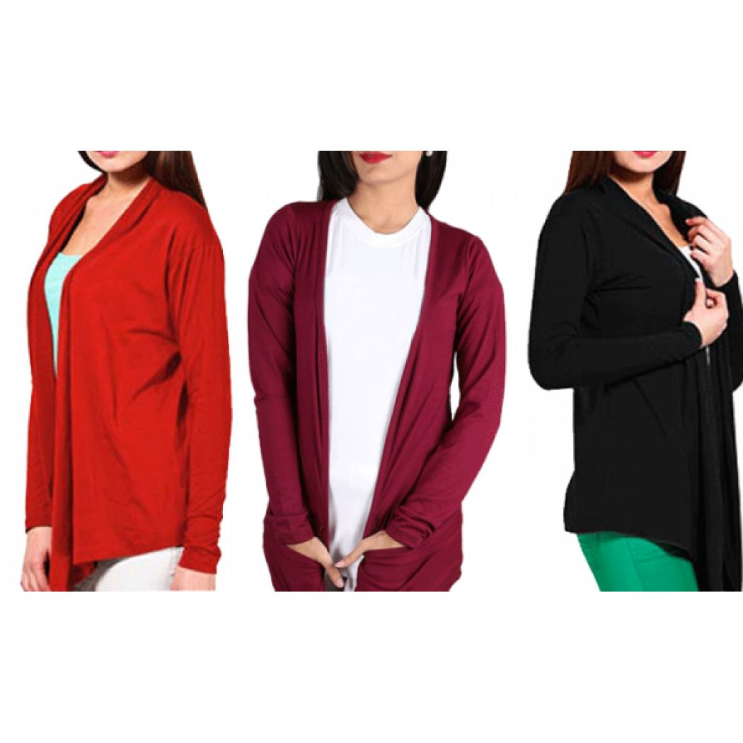 Deal 5 womens stylish shrugs exclusive colors in pakistan for Bano market faisalabad dresses