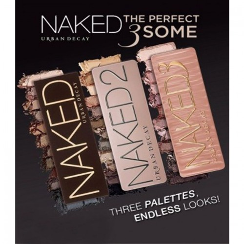 Pack Of Naked With Naked 2 And Naked 3 Eyeshadow Pallete