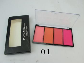 Mac Cosmetics 4 Color Blusher With Transparent Cov