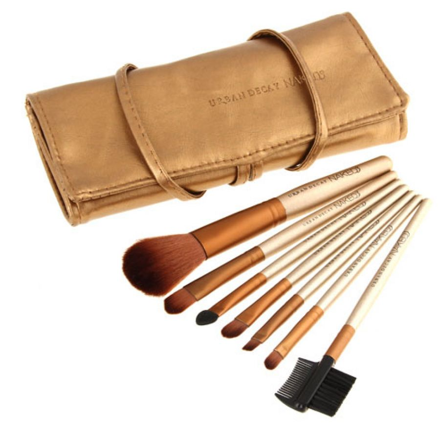 Naked3 7 Pcs Makeup Brush Set