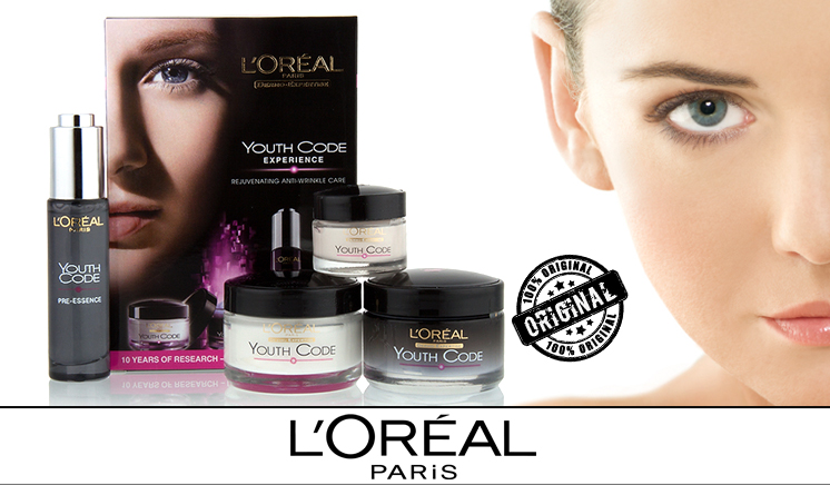 Pack of 4 LOreal Paris Youth Code Experience