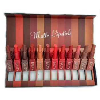 Huda Beauty Pack of 10 Matte Lipsticks Set