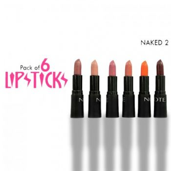 Naked 2 Lipsticks Pack Of 06 With Complementry Gif