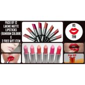 Pack Of 12 Lakme Lipsticks 1 Free Gift
