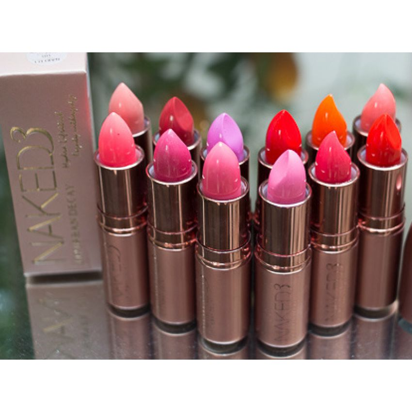 Pack of 12 Urban Decay Naked 3 Lipsticks