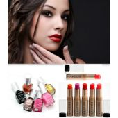 Buy pack of 5 naked2 lipsticks get 5 pcs lakme nai